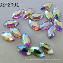 4 * 8 milímetros Navette Crystal Fix Hot Strass em Ab Color