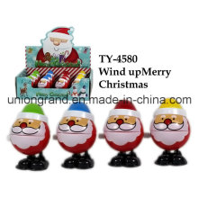 Plastic Wind up Merry Christmas Toy