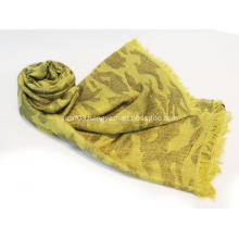 Worsted jacquard camouflage cape