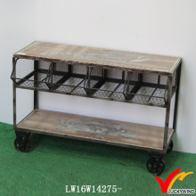 Mesh Kitchen Storage Vintage Industrial Trolly