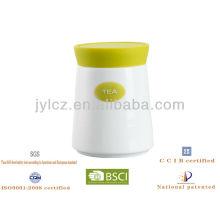 tapa de silicona con tarro de café de azúcar de té de cerámica