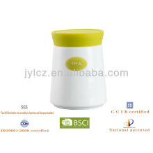 silicone lid with ceramic sugar tea coffee jar