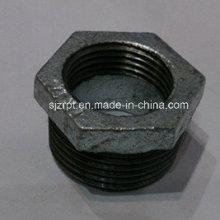 Casquillo galvanizado Accesorios de tubería de hierro maleable