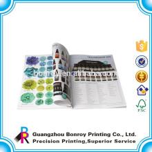Páginas de color OEM catálogo de impresión del diseñador