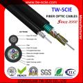 Gytc8s Self-Support Figure 8 Blindado 6 Core Cable de fibra óptica