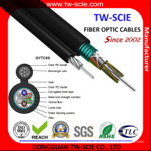 Gytc8s Self-Support Figure 8 Blindado 6 Core Cable de fibra óptica