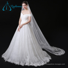 Lace Appliques Flowers Tulle Wedding Veil Long Cathedral