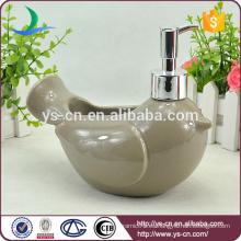 Cerámica gris pájaro de paz accesorios de baño Lotion Dispenser