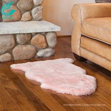 decoração de casa luz rosa pele de carneiro cordeiro tapete de pele