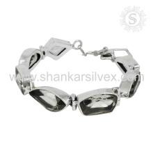 Green amethyst silver bracelet handmade jewelry 925 sterling silver gemstone bracelets jewellery manufacturer