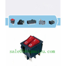 4pins 6pins Rocker Switch with Lamp/Light Illuminated on-on Double Button Dpst Big Current 6p 16A 250V AC