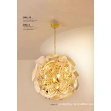 Fancy Golden E14 Bulb Pendant Lighting for Home Project