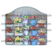 Оптовый металлический дисплей Цветочный магнит