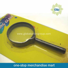Cheap classical plastic handle magnifying glass