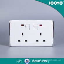 Igoto British Standard Hl2013 Double 13A Switched Socket with 2 Gang Switch