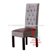 Chaise de salle à manger en cuir en cuir