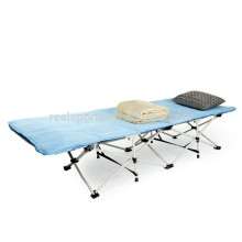 Folding Queen Size Camping Bed For Outdoor Camping Oxford Fabric Steel Folding Cot Camp Bed