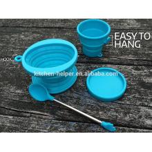 Eco-friendly China Professional Fabricant Food Grade Résistant à la chaleur Réutilisable en caoutchouc et filtre à café en caoutchouc repliable