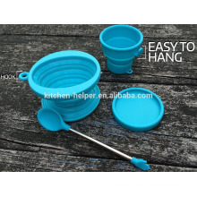 Eco-friendly China Professional Manufacturer Food Grade Heat Resistant Reusable Collapsible Silicone Coffee Filter and Dripper