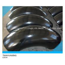 Extremidade soldada Lr 90degree carbono tubo de aço cotovelo