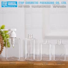 TB-D série 100ml 130ml 240ml 280ml rectangle/carré hot-vente de haute qualité à main pet bouteille liquide savon/cosmétiques
