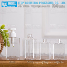 TB-D Series 100ml 130ml 240ml 280ml rectangle/square hot-selling high quality hand soap/cosmetics liquid bottle pet