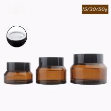 15g 30g 50g ambre cosmétique récipient vide pot de crème de verre