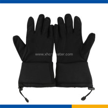 Soft shell waterproof fabric ski gloves