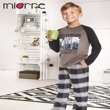 Miorre OEM Wholesale Cotton Kids Boy Printed Sleepwear Pajamas Set