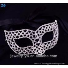 Máscaras hermosas del partido de la mascarada del rhinestone, máscara divertida de la mascarada de la joyería de la manera
