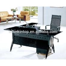 Diseños de escritorio de escritorio superior de cristal, muebles de oficina para la alta calidad a ir! (P8035)