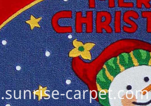 Acrylic Carved Rug with Chrismas design