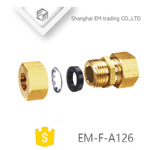 EM-F-A126 Messing Quick Cooper Innengewinde Doppelgelenk Rohrverbinder