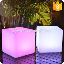 светодиодные бар стул Украшение современный открытый привело куба / led куб кресло / glow куб