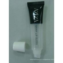 Tubo de plástico para brilho labial brilhante