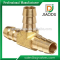"""1/4"""" Or 5/16"""" 3-way Brass Hose Barb Splicer Fitting Barbed Tee"""