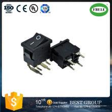 Interrupteur à bascule à 4 pins, interrupteur à bascule à LED, patte à quatre pieds Devenez interrupteur à plaque gauchie, 21 * 15 mm 90 degrés à plier le pied 1 forme sans interrupteur