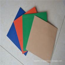 Feuille en caoutchouc en caoutchouc de néoprène de feuille de caoutchouc de SBR de quatre couleurs
