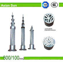 Cable de acero reforzado ACSR del cable de aluminio del conductor de arriba