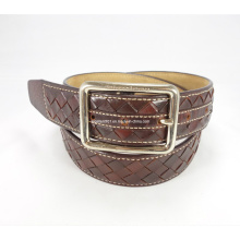Elegant Leather Braided Woven Belt for Men