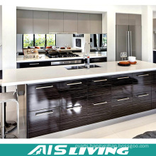 French Style Glazed White Kitchen Cabinets with Custom Island (AIS-K745)