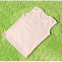 Chaleco de bebé de algodón orgánico 100% natural