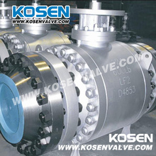 Forged Steel Flanged Trunnion Ball Valves with Gear Box