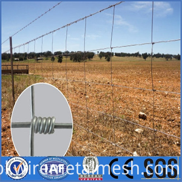 1.0m Galvanized Cattle Fence picture