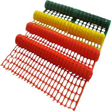 Malha de vedação de barreira de segurança de plástico