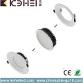 15W Dimmable LED Downlights Blanco Negro Iluminación