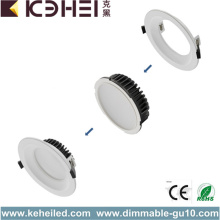 15W Dimmable LED Downlights éclairage noir blanc