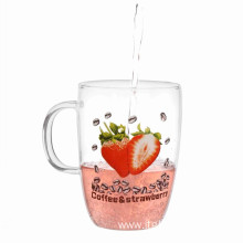 Single Wall Glass Cup With Printing