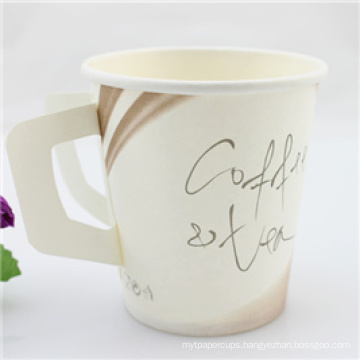 Wholesale Disposable Coffee Paper Cup/ Single Wall Paper Cup with Handle