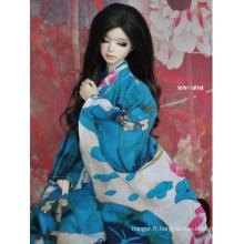 Vêtements BJD Bleu Kimono/Yukata pour 75cm/70cm/SD/MSD/YOSD